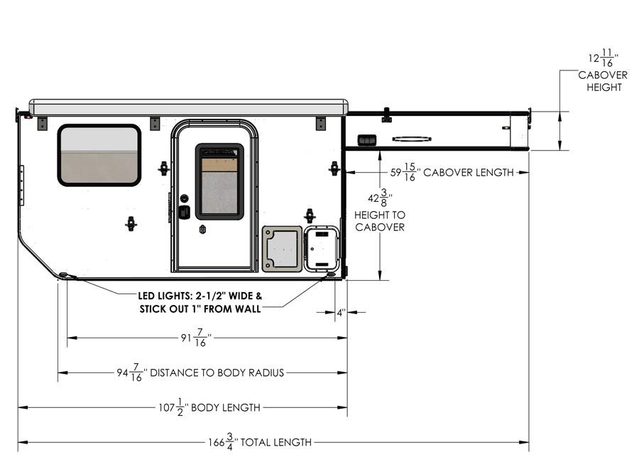 Die Four Wheel Campers Bison UTE Wohnkabine für Flachpritschen